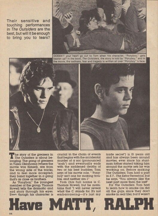 essay on ponyboy the outsiders by s e hinton Thesis: the outsiders by se hinton, a novel which tells the story of conflict between the greasers and the socs, captures the voice of ponyboy and his friends in a realistic way that relates to boys and their gangs even todaythis story has a lot.