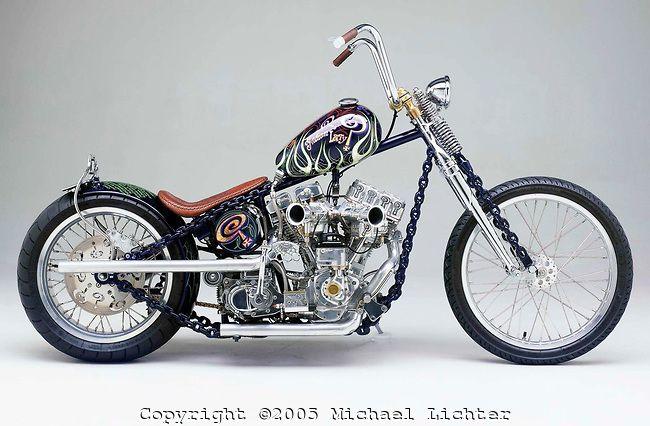 Chain of Mystery\' Harley Davidson Shovelhead / Panhead, chain-link ...