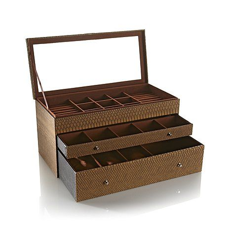 Hsn Jewelry Boxes Prepossessing Colleen's Prestige™ Dragonembossed Deluxe Jewelry Boxhsn Love Has Decorating Inspiration