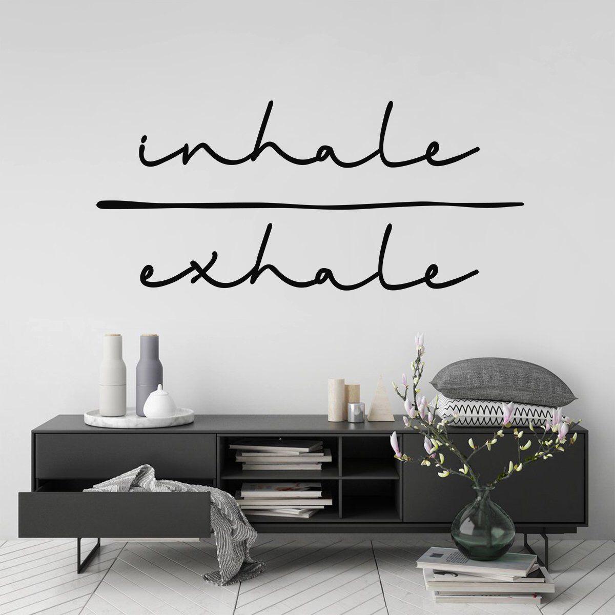 Inhale exhale wall art sticker minimalist room decor