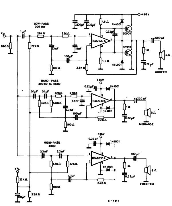 140w Power Amplifier With Sta5100 Schematic Design