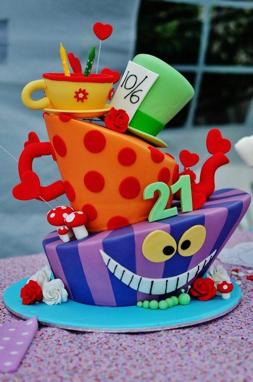 Mad Hatter Cake Tumblr With Images Mad Hatter Cake Alice In