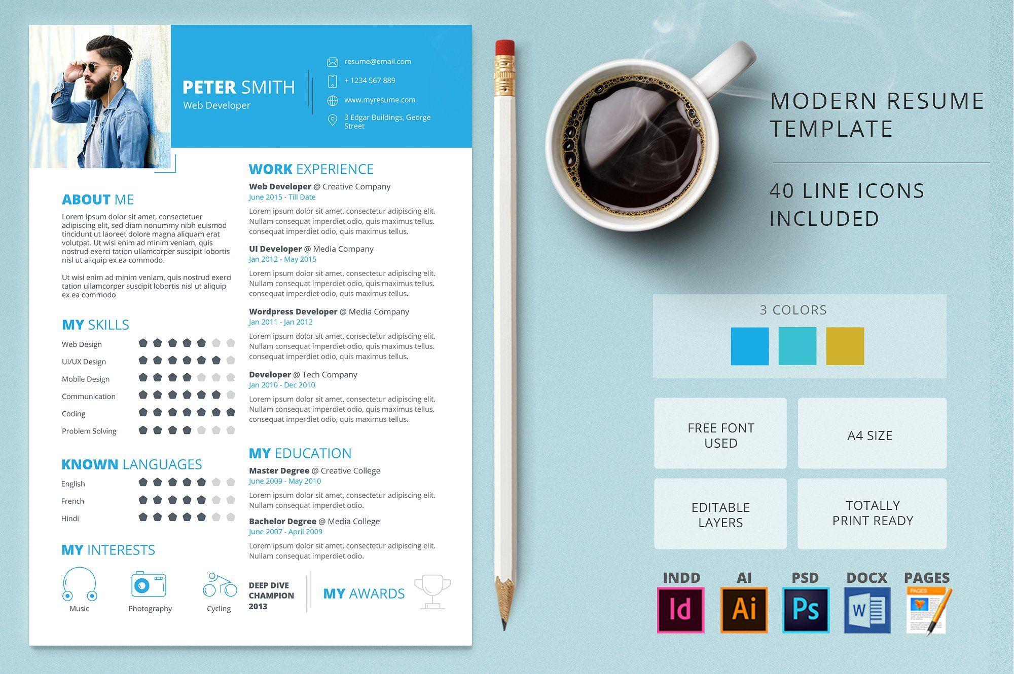 Modern Resume Design Templates  MaggiLocustdesignCo