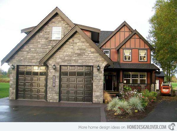 20 Traditional Architecture Inspired With Attached Garages Garage Door Design Black Garage Doors House Exterior