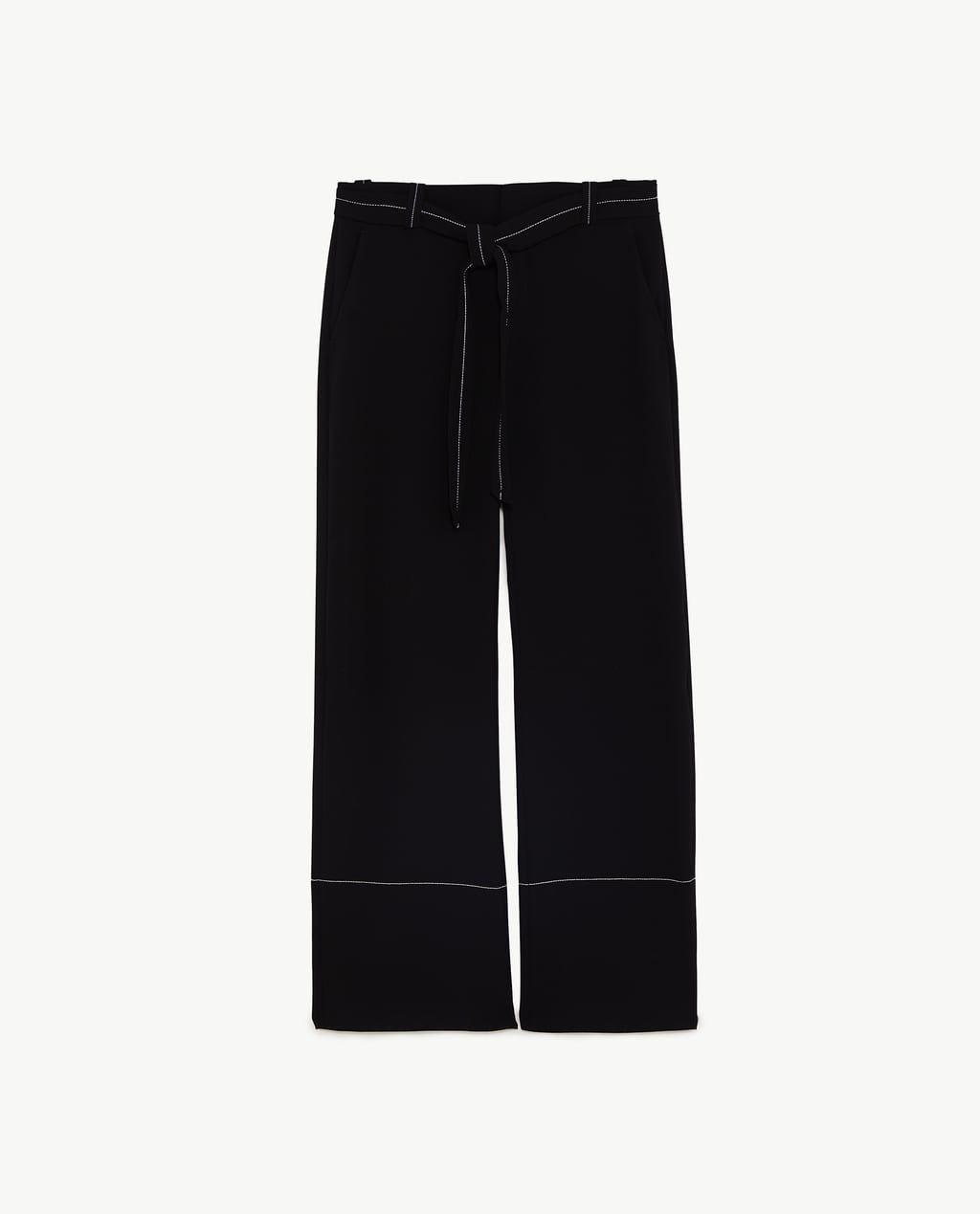 191efb3109df94 ズボン · パンツ · 画像 6 の コントラストトップステッチ入りパンツ ザラから コントラストトップステッチ入りパンツ ザラ