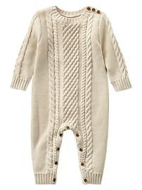 9968f3180e9 Cable knit one-piece Christmas Baby Clothes