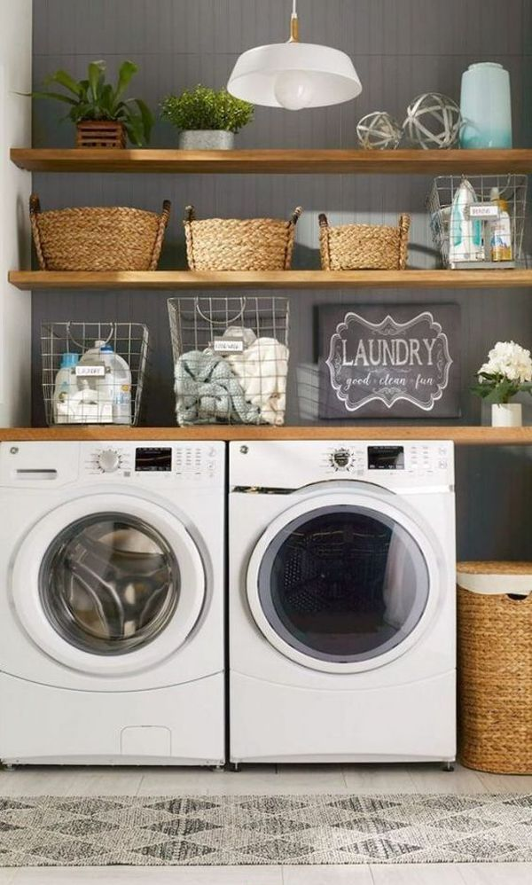 43 Small Farmhouse Laundry Room Ideas Look Bigger | Home Design And Interior