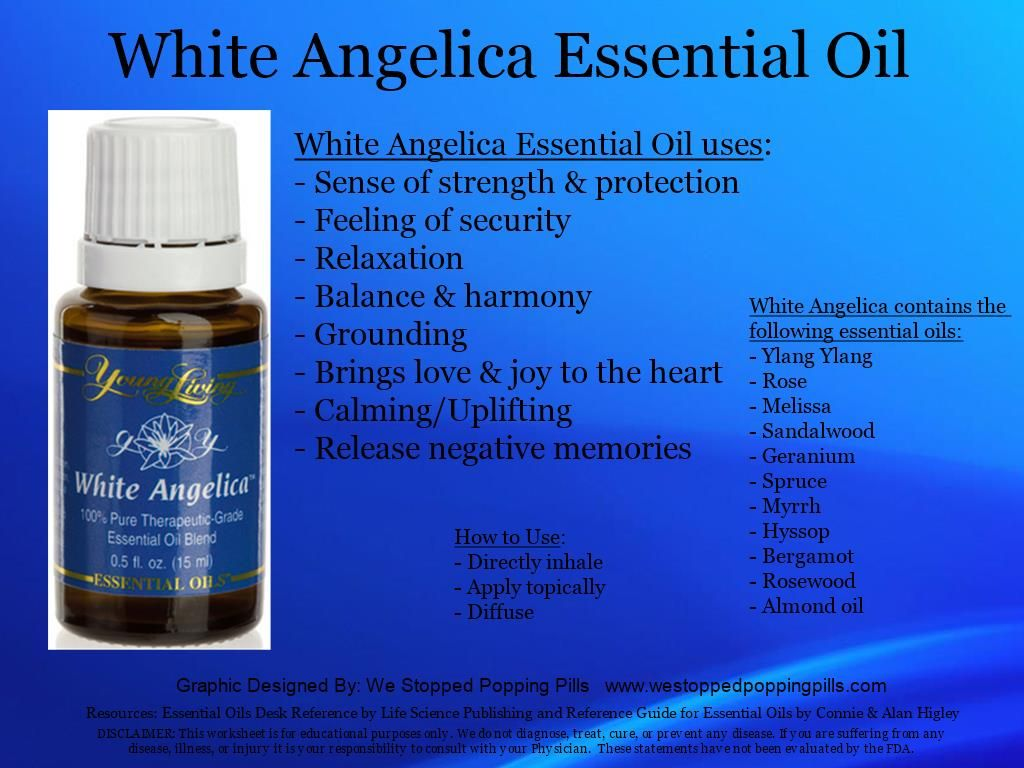 Young Living Essential Oils White Angelica Please