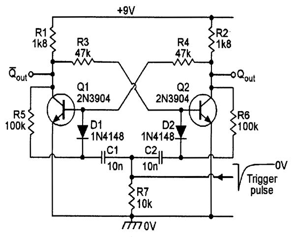 divide by two bistable circuit electronic schematics in 2018 rh pinterest com