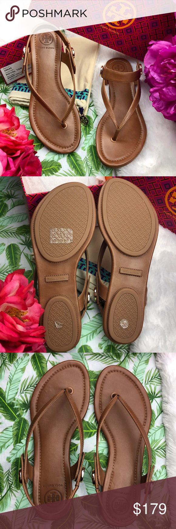c005a427d2e5 Spotted while shopping on Poshmark   Tory Burch  Royal Tan Minnie Travel  Thong Sandals!  poshmark  fashion  shopping  style  Tory Burch  Shoes