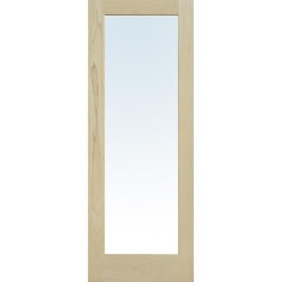 Mmi Door 30 In X 96 In Unfinished Poplar Wood 1 Lite Clear Glass Interior Door Slab Z0364997 The Home Depot In 2020 Glass French Doors Sliding Glass Barn Doors French Door Sizes