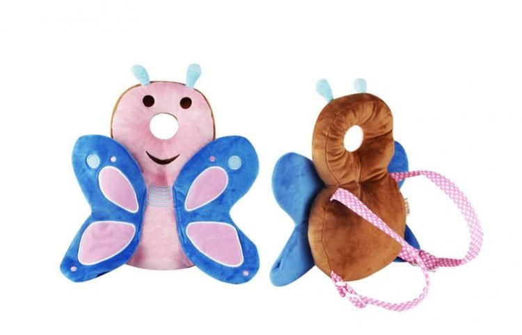 Butterfly Shaped Baby Head Protector backpack - animal shaped flat head shaper p...