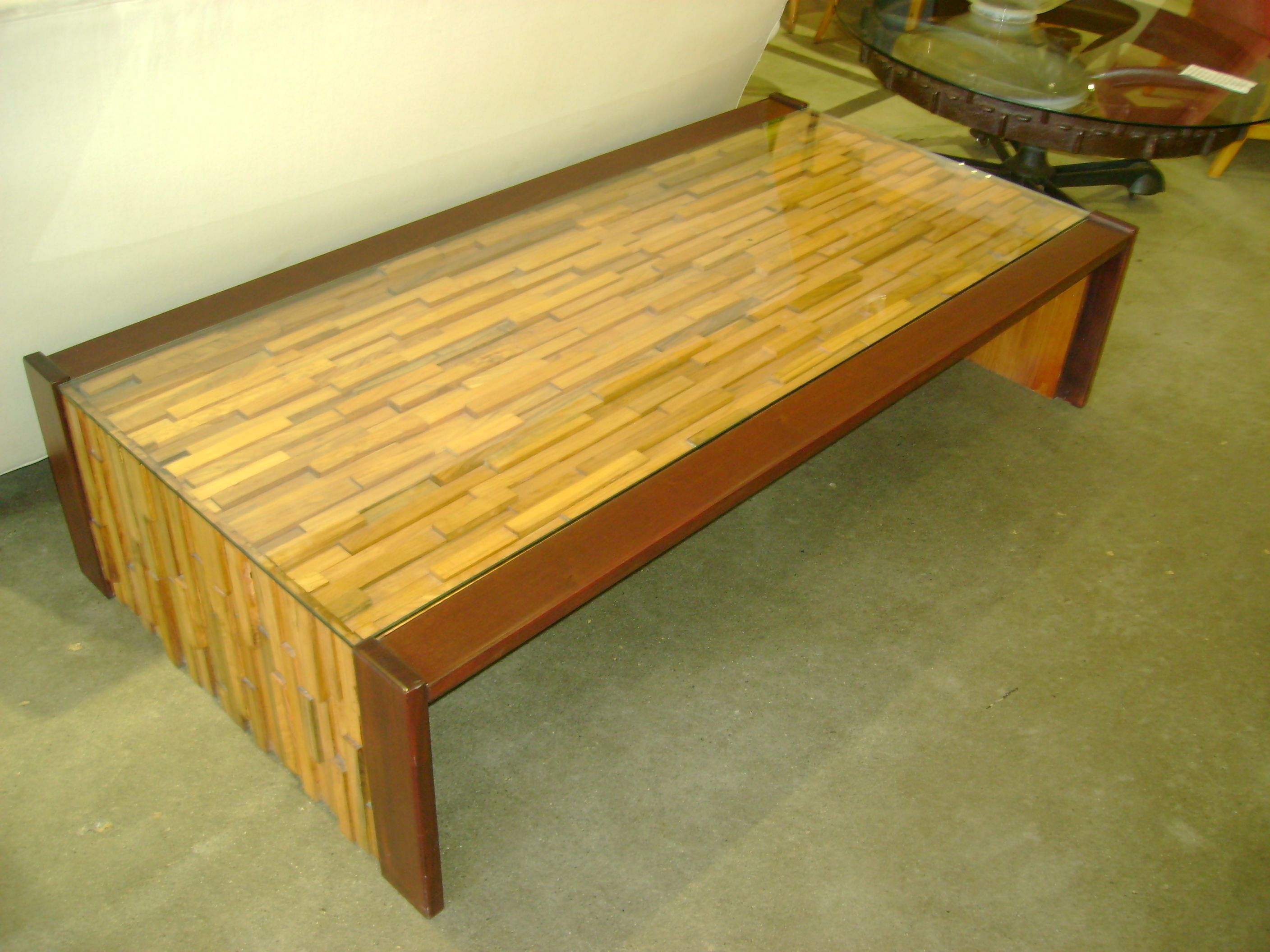 Vintage Brazilian Coffee Table Made With Teak Rosewood And Mahogany Metropolitan Home Vancouver B C Coffee Table