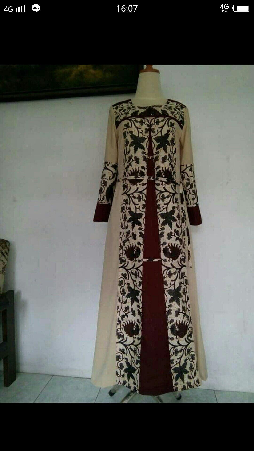 Batik Kombinasi Model Pakaian Muslim Model Baju Wanita Model Pakaian