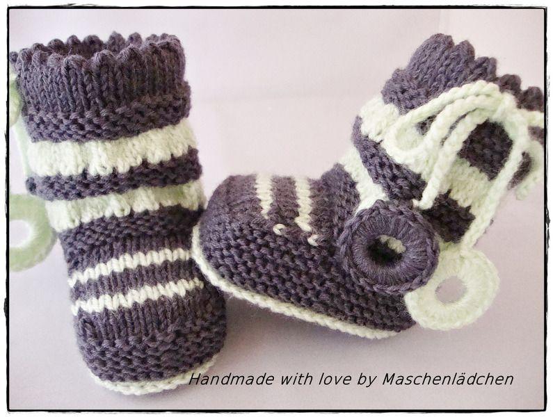 NovemberRemember Babyschuhe - Babystiefel  von Maschenlädchen auf DaWanda.com