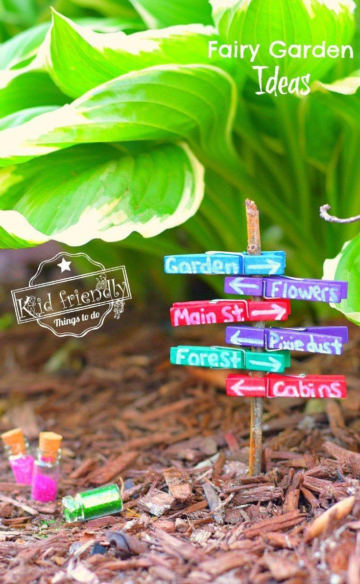 Over 15 Fairy Garden Ideas for Kids in the Garden | Pinterest ...