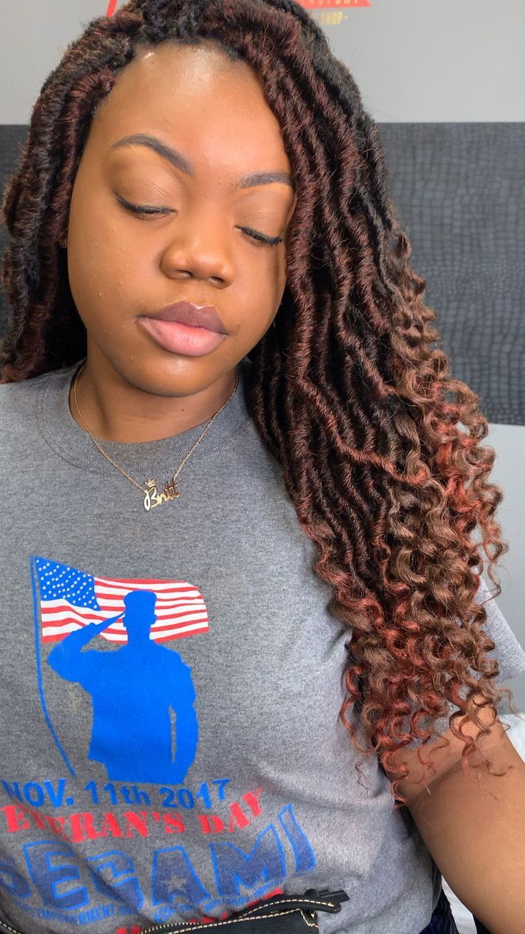 Faux Locs Crochet with curly end