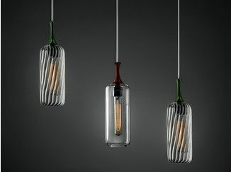 Lampade In Vetro A Sospensione : Lampada a sospensione in vetro in stile vintage gala ilide