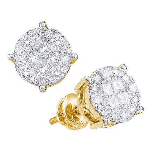 14k Yellow Gold 0.25Ctw Diamond Ladies Soliel Earrings