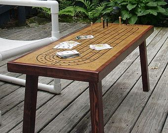 Merveilleux Game Table Cribbage Board Coffee Table Early Par TheRightJack