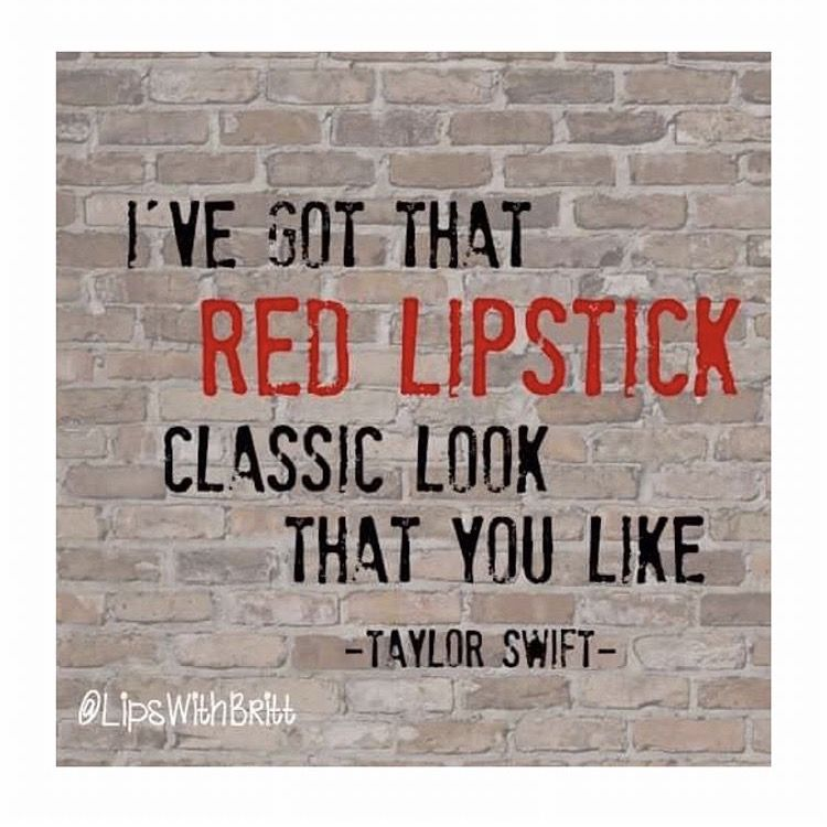 Red Lipstick Quotes Song Lyrics Cosmetics Taylor Swift Makeup