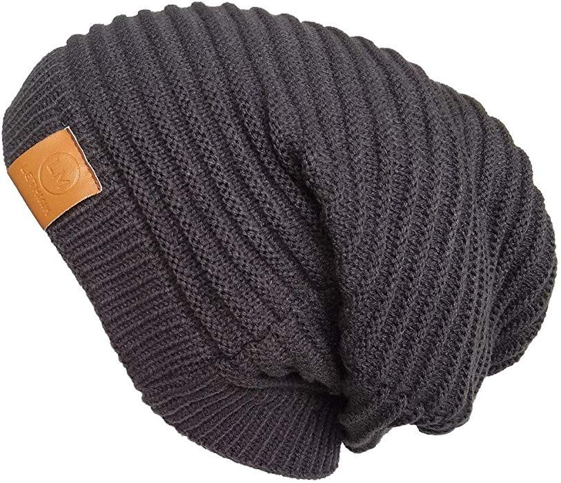 0327306a261 LETHMIK Functional Slouchy Beanie Unisex Skully Hat Warm Infinity Scarf in  3 Colors