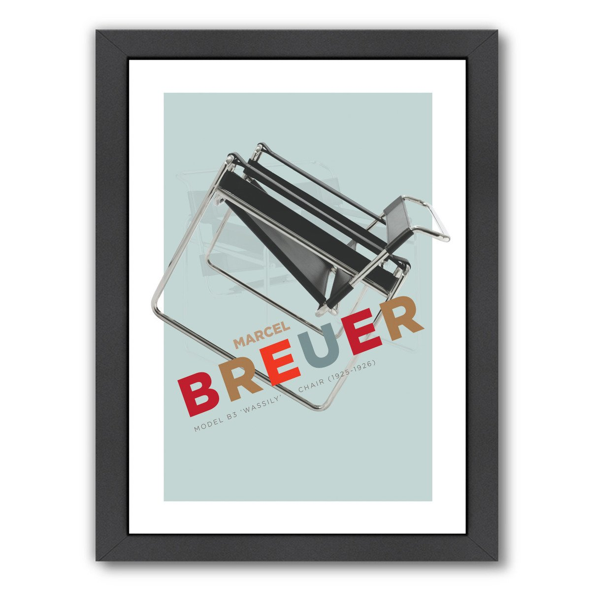 Breuer Wassily Chair by Visual Philosophy Framed Print