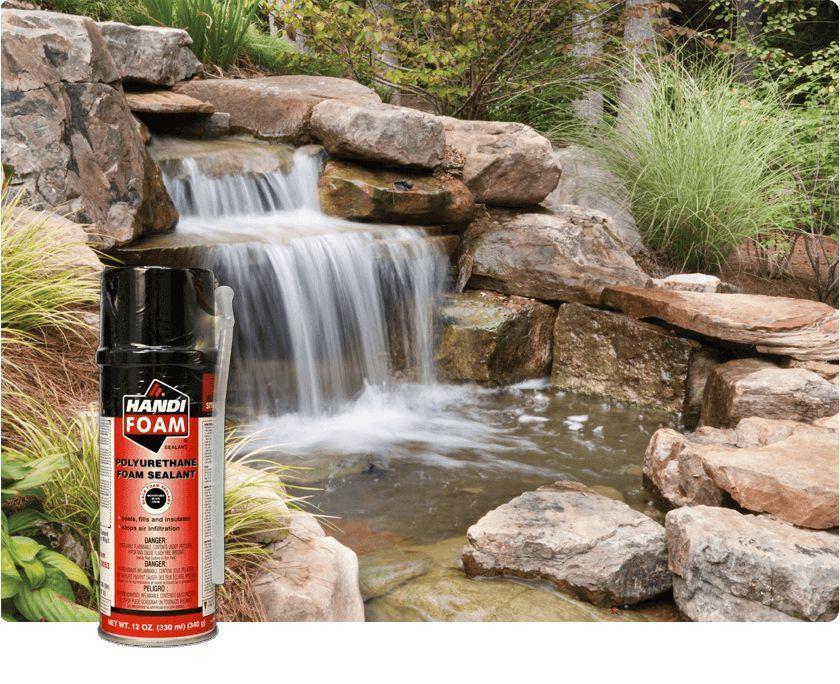 Handi Foam Black 12 Oz Pond Foam Backyard Water Feature