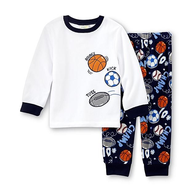WonderKids Infant   Toddler Boy s Microfleece Pajama Top   Pants - Sports 854f5e7ce