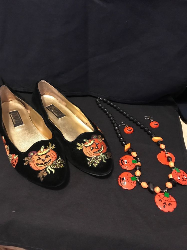 34e4cabf6b3 Pritzi Halloween Black Velvet Holiday Pumpkin Womans Flats Shoes Size 10 M   Pritzi  BalletFlats  holiday
