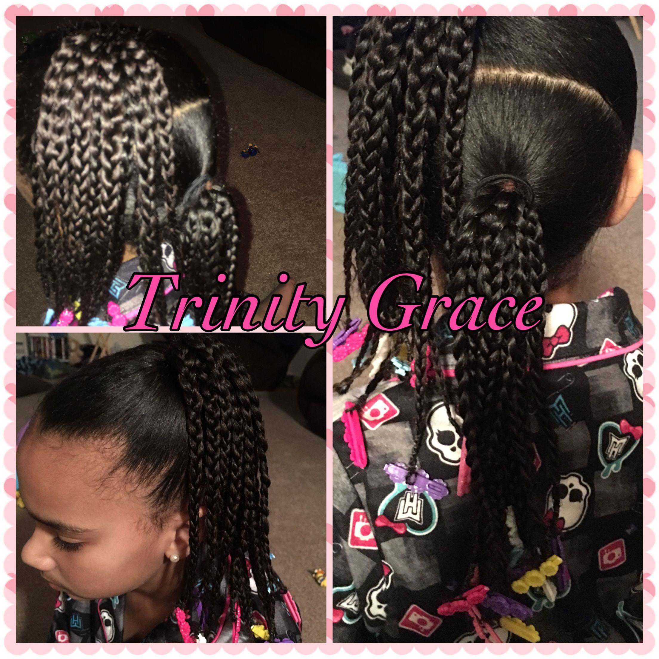 Ponytail mixed hair cute braids have a good hair day