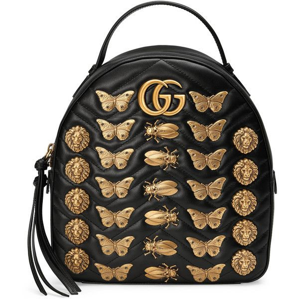 15d3ccda9fd Gucci Gg Marmont Animals Studs Leather Backpack ( 2