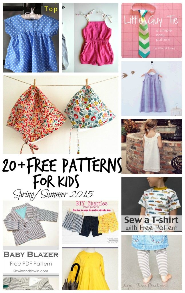Free Sewing patterns for Kids SpringSummer 2015 brought to you by ...