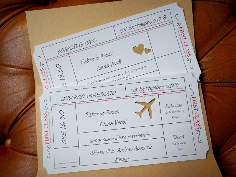 92 Partecipazione Invito Nozze Biglietto Aereo 04 Biglietti Aerei Partecipazione Festa A Tema Viaggio