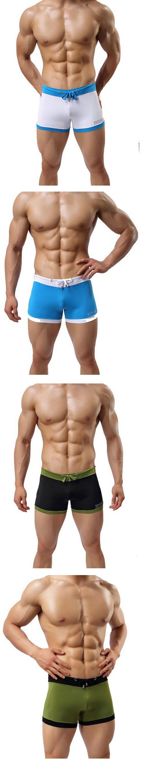 2015 Donyan Solid Slim Sexy Solid Beach Swim Surfing Trunks