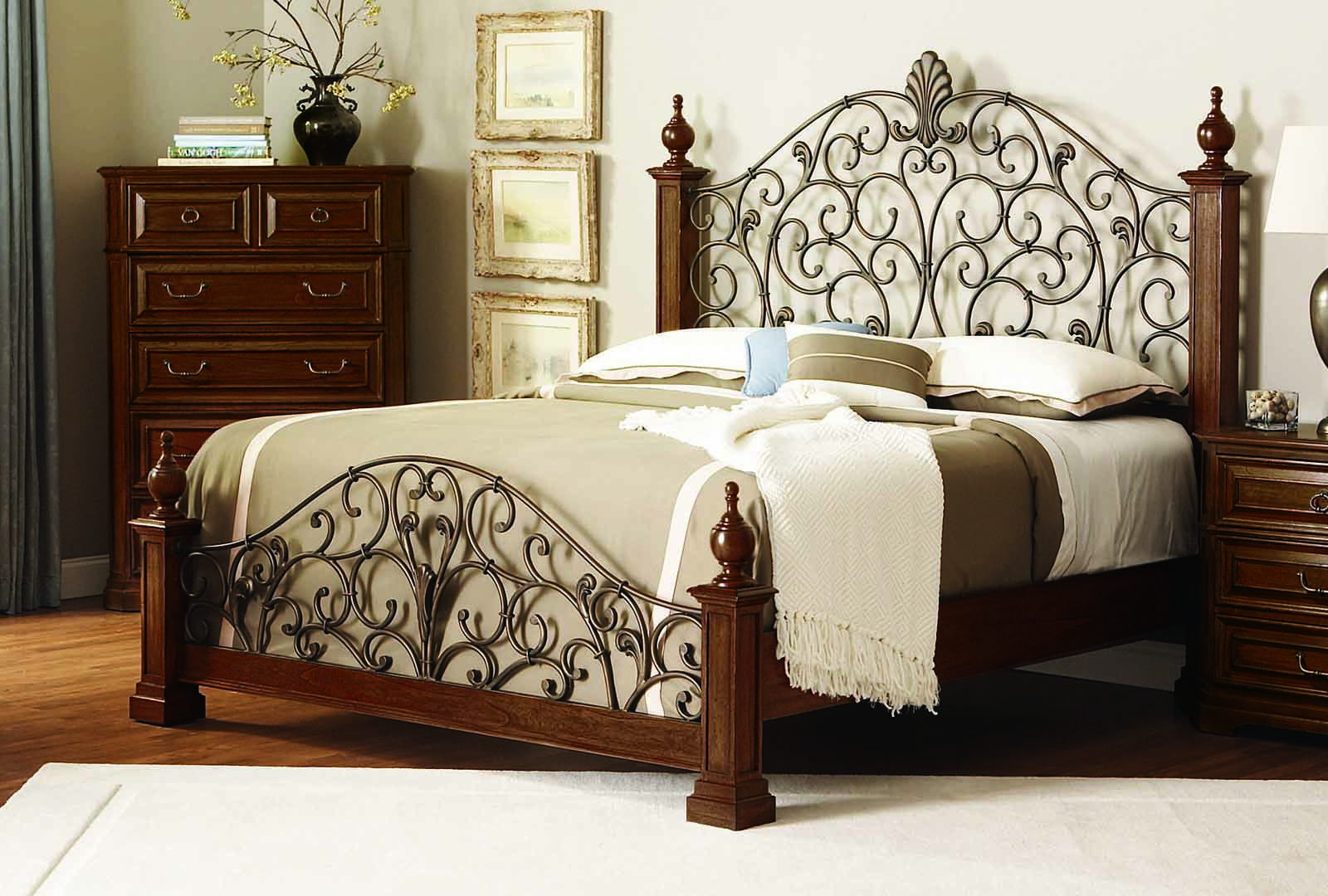 Coaster Edgewood Queen Panel Bed in Cherry Twin bed