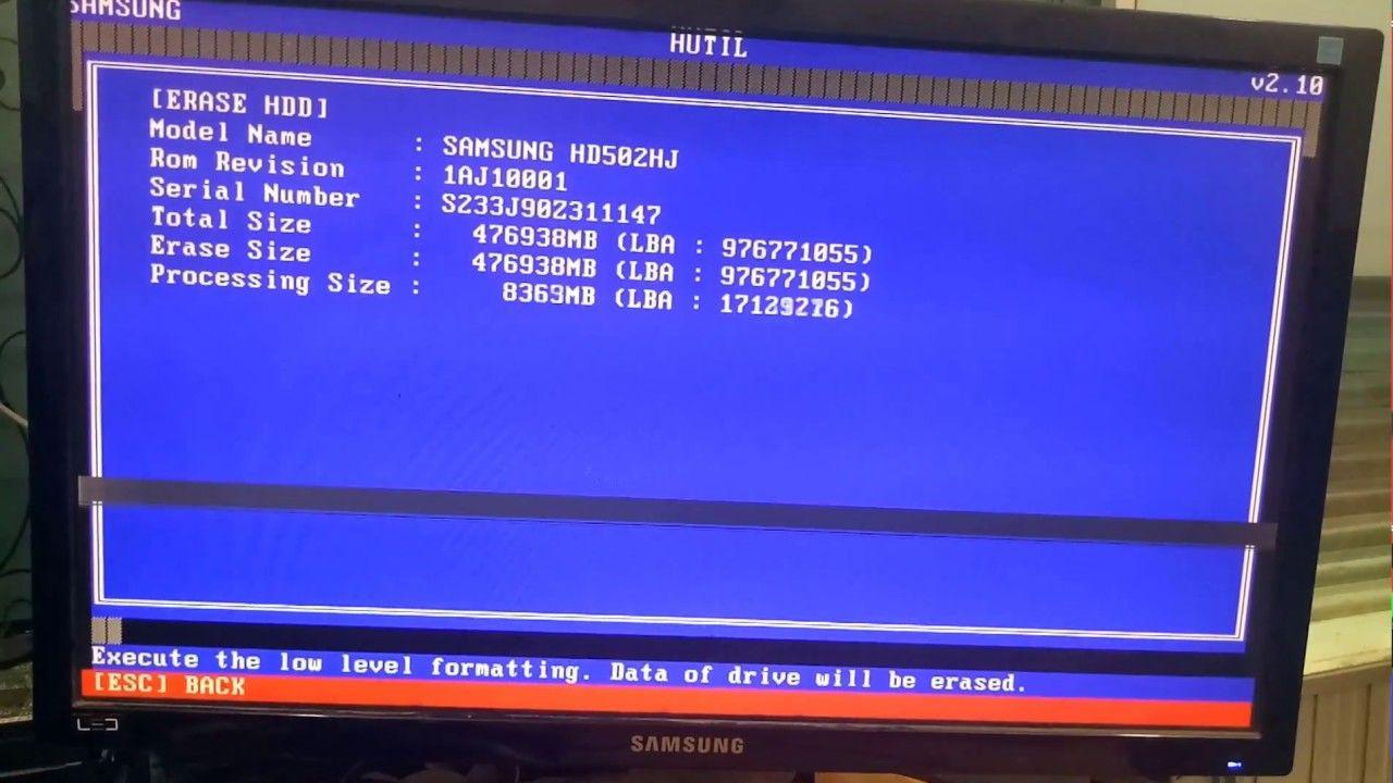 How to repair Samsung Hard disk | repair Samsung HDD Utility
