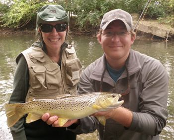 Guided Fly Fishing Trips For Brown Trout In Ohio With Mad River Outfitters We Guide On The Mad River The Clearfork Ri Fishing Tours Fishing Guide Fly Fishing