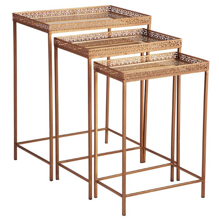 A steal! Swarthmore Nesting Table Set $86 my kids would break then
