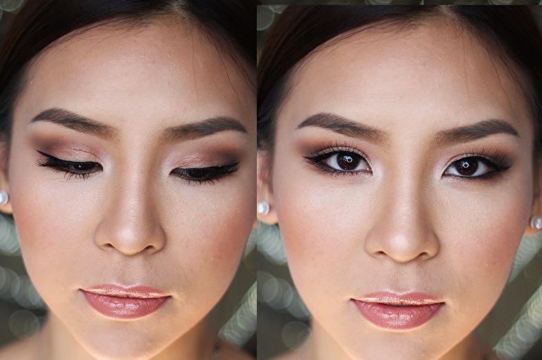 готовы подсказать макияж для азиатских глаз без век фото заключалась
