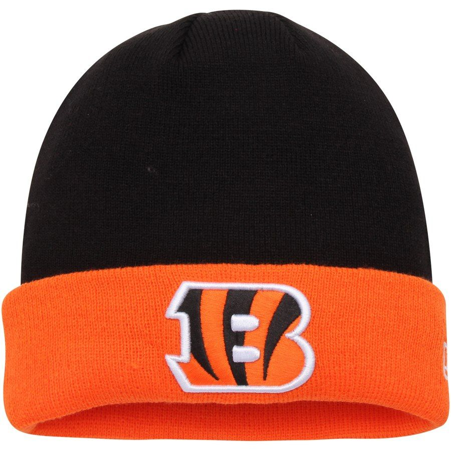9bb2aacb19587b Men's Cincinnati Bengals New Era Black/Orange 2-Tone Cuffed Knit Hat, Your  Price: $14.99