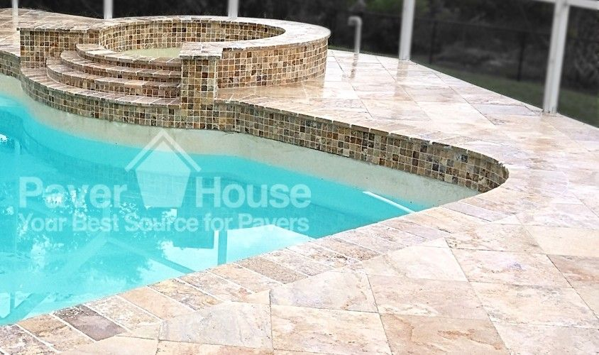 Cool Deck Travertine Fascinating Travertine Pavers On Pool Deck & Spa  Pretty Pools  Pinterest