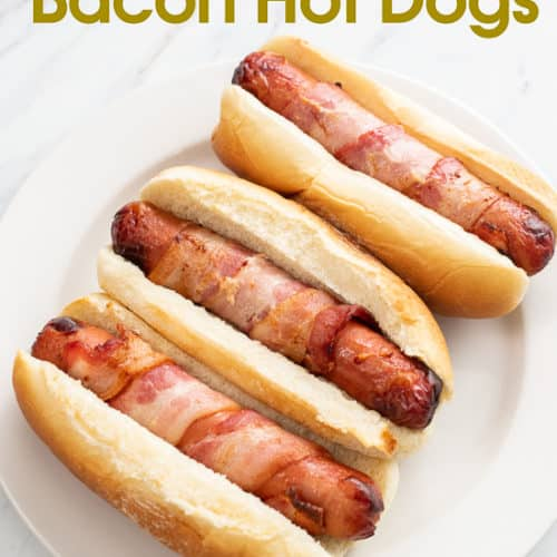 Air Fryer Bacon Wrapped Hot Dogs | Recipe (With images ...
