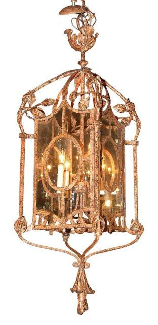 Decorative Iron Lantern $2,400 on GoAntiques. #home #lighting #antique #vintage #decoration