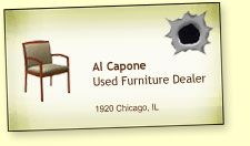 Al capones business card said he was a used furniture dealer al capones business card said he was a used furniture dealer colourmoves