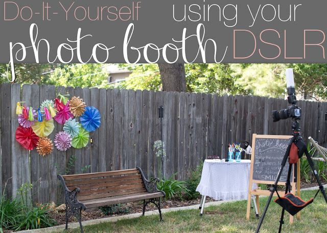 how to set up camera for photo booth