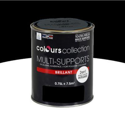 Peinture multi-supports Noir Brillant 0,75L en 2020 | Noir mat, Castorama et Peinture mur et plafond