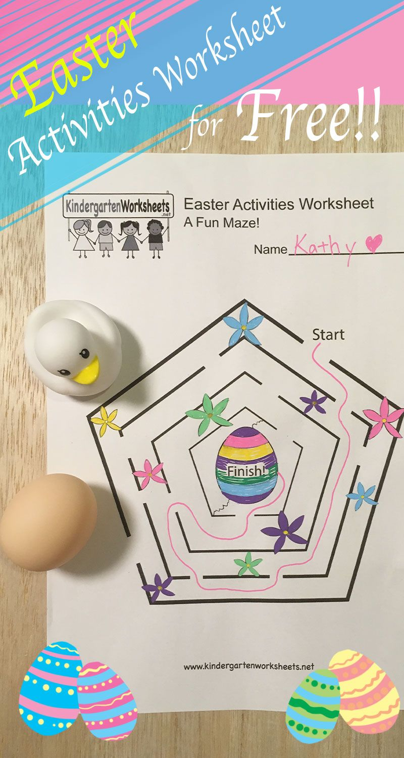 This Is A Fun Easter Maze Activity Worksheet That You Can Download