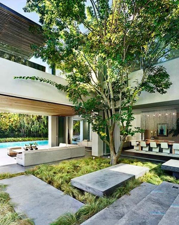 20 Beautiful Indoor Courtyard Gardens Home Design And Interior - jardin interior