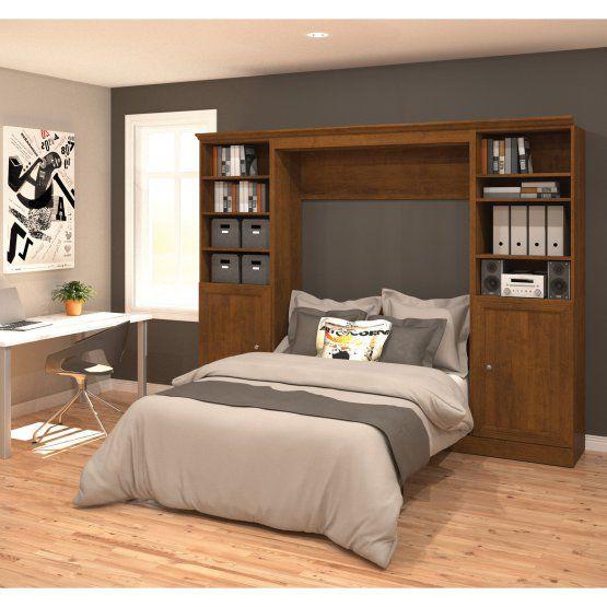 Best Bestar Versatile Murphy Wall Bed With 1 Door And 3 Shelf 400 x 300